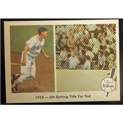 1959 FLEER TED WILLIAMS.  6TH BATTING TITLE.  NM-MT