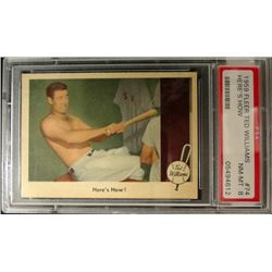 1959 FLEER TED WILLIAMS.  HERE'S HOW.  PSA  8