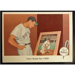 1959 FLEER TED WILLIAMS.  TED'S GOALS FOR 1959.  NM-MT