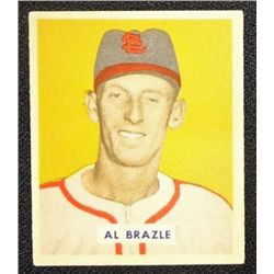 1949 BOWMAN #126B  AL BRAZLE  PRINTED  ROOKIE  EX-MT