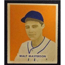 1949 BOWMAN #157  WALT MASTERSON  NM  ROOKIE