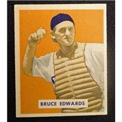 1949 BOWMAN #206  BRUCE EDWARDS  EX-MT