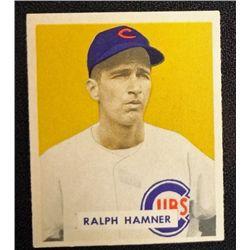 1949 BOWMAN #212  RALPH HAMNER  NM  ROOKIE