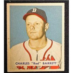 1949 BOWMAN #213  CHARLES (Red) BARRETT  NM  ROOKIE