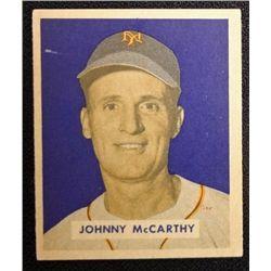 1949 BOWMAN #220  JOHNNY McCARTHY  NM