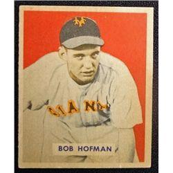 1949 BOWMAN #223  BOB HOFMAN  NM  ROOKIE