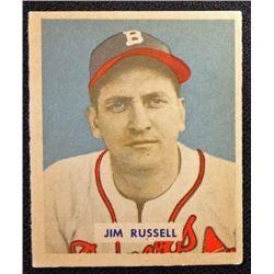 1949 BOWMAN #235  JIM RUSSELL  EX-MT  ROOKIE