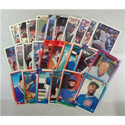 26-CHICAGO CUBS BASEBALL CARDS 1991