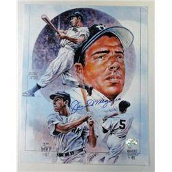 Joe DiMaggio NY Yankees HOF signed AUTOGRAPH 8 x 10  STAT authentic..