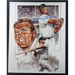 """New York Yankees Mickey Mantle """"THE MICK"""" Autographed 8x10 color w/COA."""
