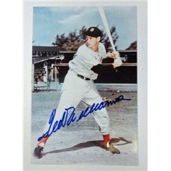Ted Williams signed 4 x 6 1/2 color photo.  Comes with letter of authenticity.