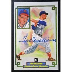 Ted Williams, Donruss Grand Champion 3 x 5 1/2 autographed photo with COA.