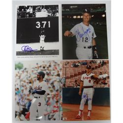 4 - AUTOGRAPHED BASEBALL PHOTO's   8 X 10's  STARS FROM THE 1980's.