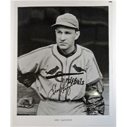 AUTOGRAPHED  8 x 10  ENOS SLAUGHTER B/W PHOTO