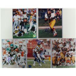 5 - AUTOGRAPHED NFL SUPER STAR 8x 10 photo's.
