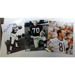 3 -  NFL Autographed 8 x 10 photo's Raymond Berry, Doug Adkins, & Art Donovan.
