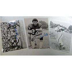 3 - NFL Autographed 8x10 Black&White Photos.  Lavelli, Houston, & Dempsey.