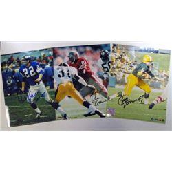 3 - NFL Autographed 8x10 color photos.  Paul Hornung, Russ Francis, & P Krause.
