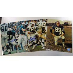 3 NFL Autographed color 8x10 photos.  Gino Marchetti, Matt Snell, & Larry LIttle