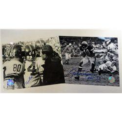 2 - NFL Black & White 8x10 Autographed Kyle Rote.