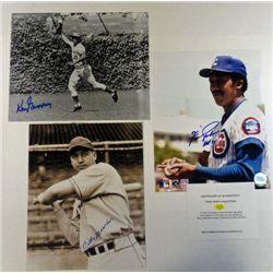 3 - MLB Autographed 8x10 photos.  Ken Griffey Sr, Billy Herman, Fergie Jenkins.