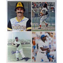 4 MLB Autographed 8x10 Color Photos. Rollie Fingers, Tiant, Devereaux,  Irwin.