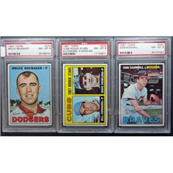 3 - 1967 TOPPS BASEBALL PSA  NM - MT 8  #267, #272, #276