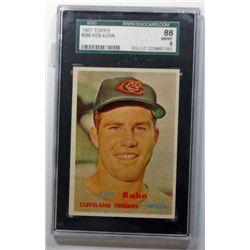 1 - 1957 TOPPS BASEBALL SGC 88   NM/MT 8   #266 Ken Kuhn.