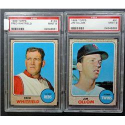 2 - 1968 TOPPS BASEBALL PSA  MINT 9  #91, #133