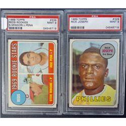 2 - 1969 TOPPS BASEBALL PSA  MINT 9  #329, #339