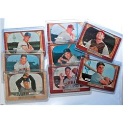 8 - 1955 Bowman Baseball Cards - VG - Good   Stars Included