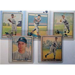 Play Ball Baseball Card Lot - 5 different cards   VG - VGEX
