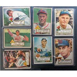7 - 1952 Topps Baseball Cards - Nice Lot