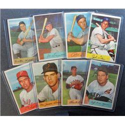 8 - 1954 Bowman Baseball Cards - with STARS   Nice Lot