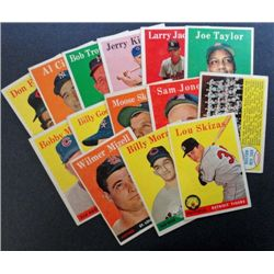 14 - 1958 Topps Baseball Cards - mostly EX to VG