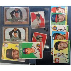 11 - Off Grade 1950's Baseball Cards.