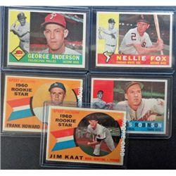 5 - 1960 Topps Baseball Star Cards, Brooks Robinson, All EX-EM