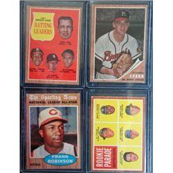 4 - 1962 Topps Baseball Star & Rookie Lot, Mostly EX - EM