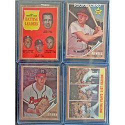 4 - 1962 Topps Baseball Star & Rookie Lot, mostly EX - NM
