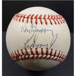 Ken Griffey Sr. and Ken Griffey Jr. Autographed Baseball.