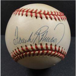 Frank Robinson Autographed Baseball.