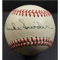 Pee Wee Reese, Duke Snider, and Carl Erskine Autographed Baseball.