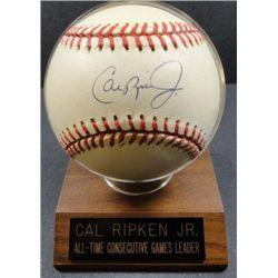 Cal Ripken Jr. Autographed Baseball.