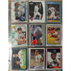 Alan Trammell Lot - over 500+ Cards in Album.