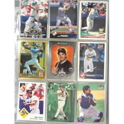 Mike Piazza Baseball Card Lot (144 cards).  Mostly NM-MT or Better.