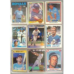 George Brett Baseball Card Lot (over 350 cards)