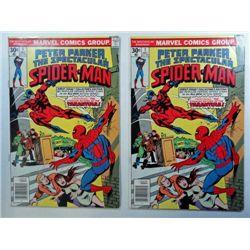 2-SPECTACULAR SPIDERMAN #1 ISSUES, DEC 1976