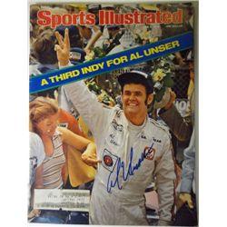 Al Unser Autographed Sports Illustrated.  June 5, 1978.