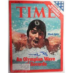 Mark Spitz Autographed TIME Magazine.  September 11, 1972.