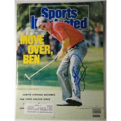 Curtis Strange Autographed Sports Illustrated.  June 26, 1989.